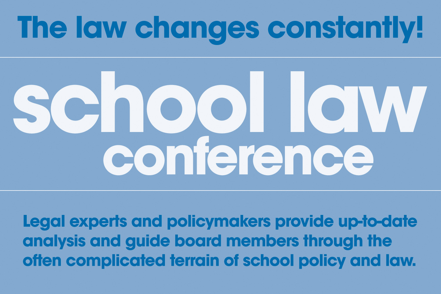 SCHOOL LAW CONFERENCE